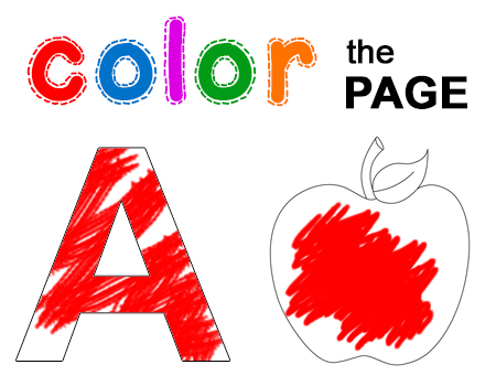Colour The Page Worksheets